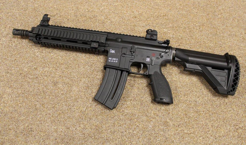 Fotos - Heckler Koch 22 Lr Hk 416 D Semi Auto Second Hand Rifle R H