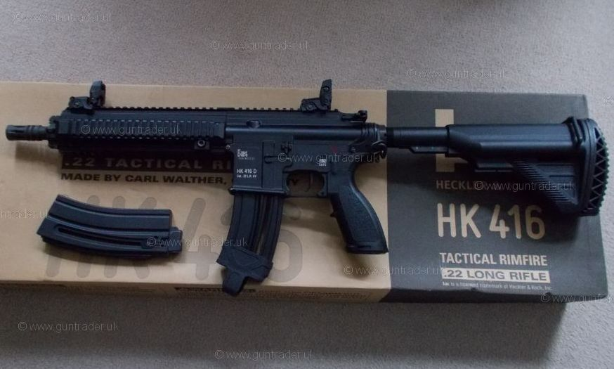 Heckler & Koch .22 LR HK416 D10RS Semi-Auto Second Hand Rifle for sale ...