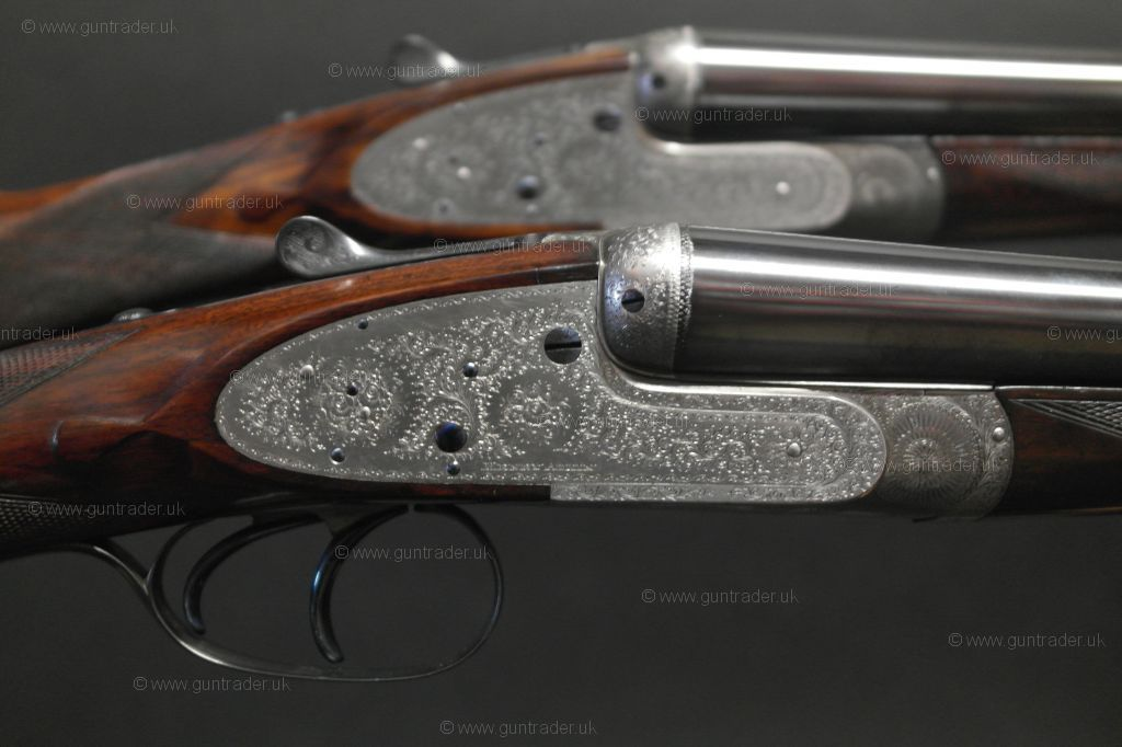 """Brand New a pair Leather Double Shot Gun Rifle Case Straps with Brass 30/"""""""