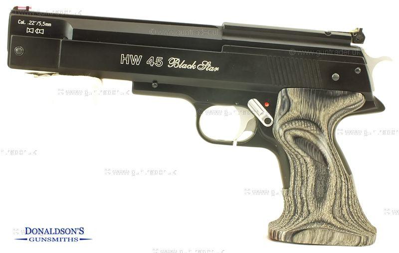 Weihrauch HW 45 Blackstar Air Pistol
