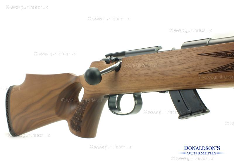 Anschutz 1417 Walnut Thumbhole Rifle