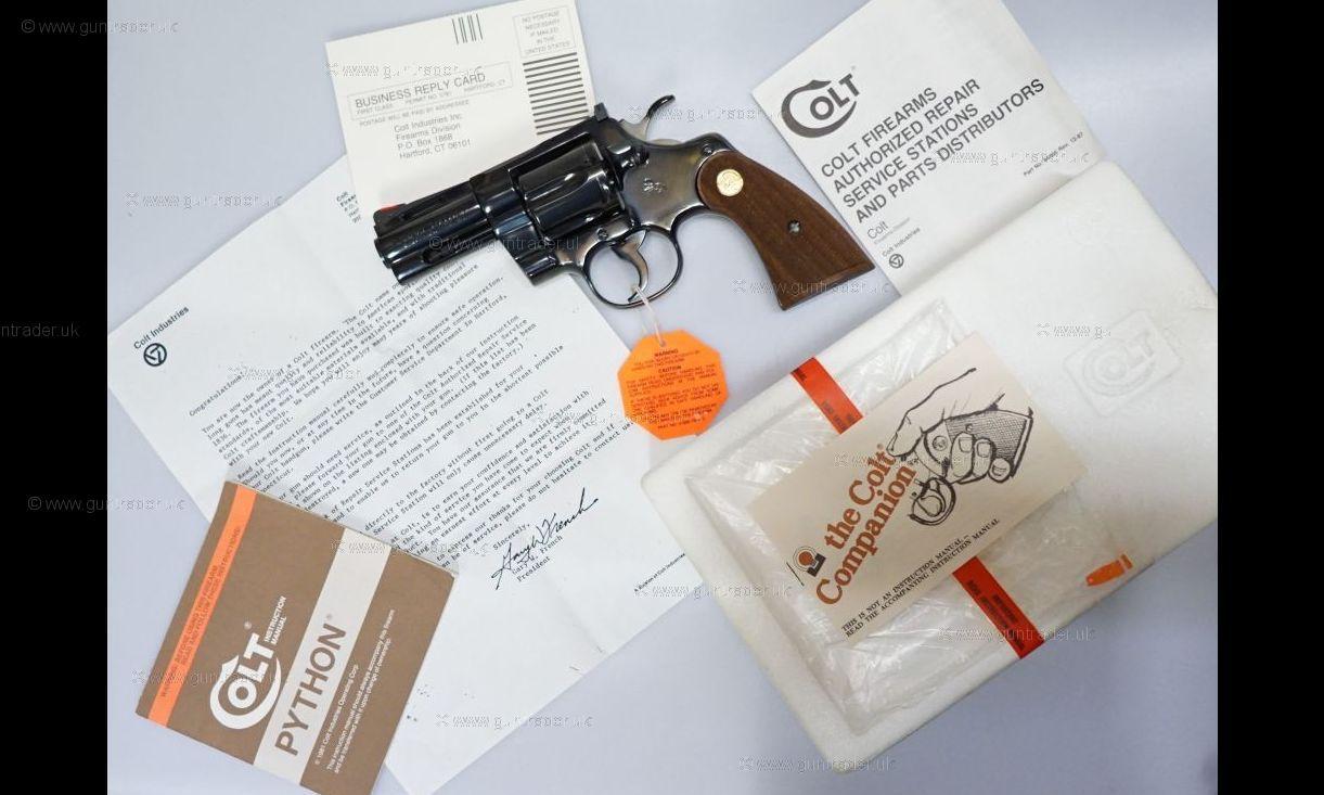 "Combat Python colt .357 magnum combat python 3"" revolver second hand pistol for"