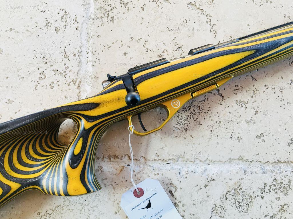 CZ  22 LR 455 Thumbhole Yellow