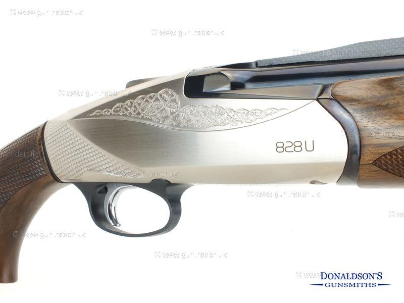 Benelli 828U Silver Shotgun