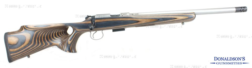 CZ 455 Stainless Varmint Thumbhole Laminate Rifle