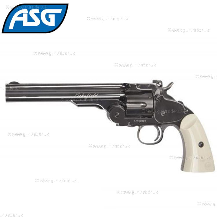 Schofield Steel Grey Ivory Grips Air Pistol