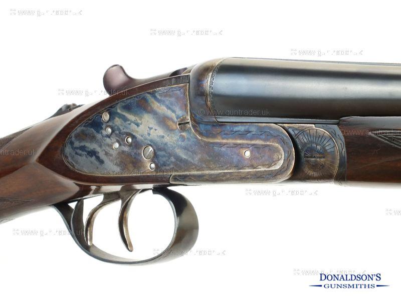 Leland-Union Armera Side lock ejector. Shotgun