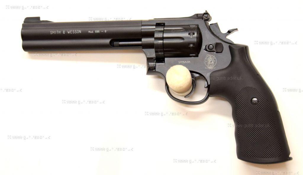 """Umarex Smith and Wesson Revolver 6"""" Black"""