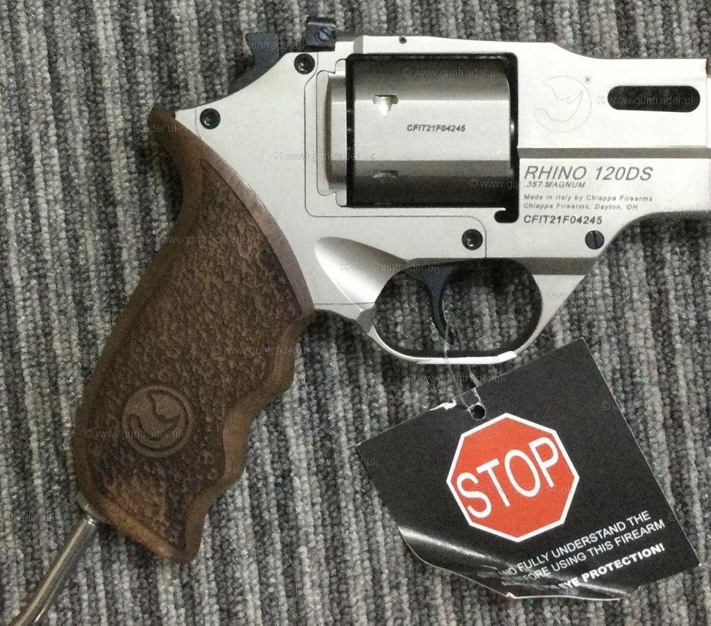 New Chiappa Rhino 120 DS SILVER .38/.357 Magnum