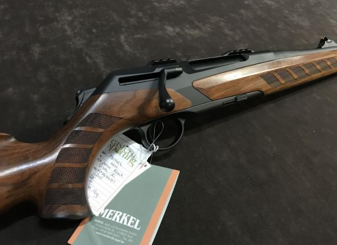 Merkel .243 Helix Black (Wooden Stock - Grade 2)