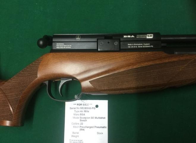 BSA .22 Scorpion SE Multishot Beech