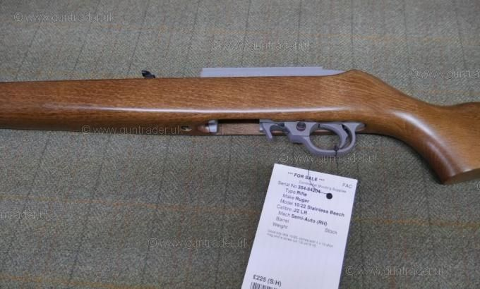 Ruger .22 LR 10/22 Stainless Beech