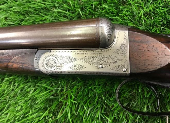 Rosson, Charles S. & Co. 12 gauge Boxlock Ejector