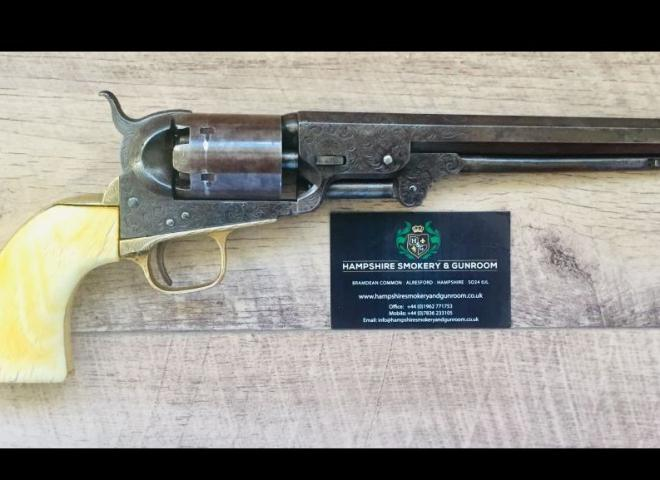 Colt .36 Gustave Young Engraved Colt Model 1851 Navy Revolver