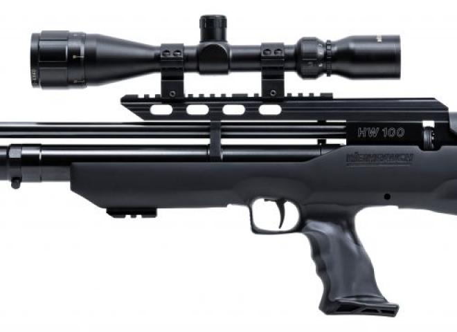 Weihrauch .22 HW100K Bullpup Carbine Black/Grey Synthetic