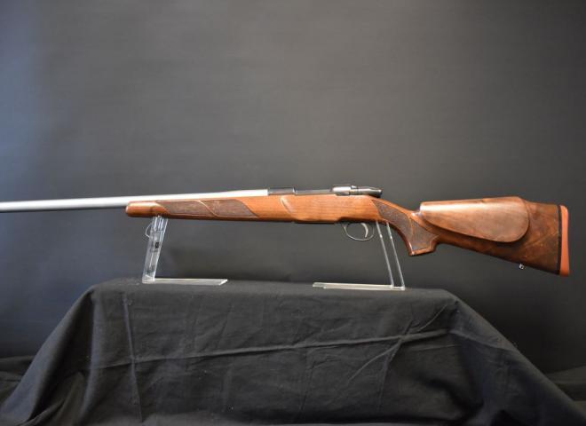 Sako 6.5mm Creedmoor 75 Action 1 Varmint Wood Blued heavy barrel