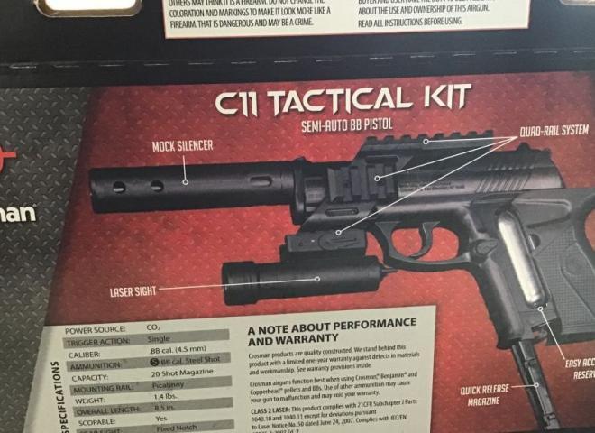 Crosman .177 (BB) C11 Tactical Kit Pistol